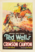 "Movie Posters:Western, Crimson Canyon (Universal, 1928). One Sheet (27"" X 41"").. ..."