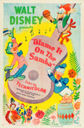 "Movie Posters:Animation, Blame It on the Samba (RKO, R-1955). One Sheet (27"" X 41"").. ..."