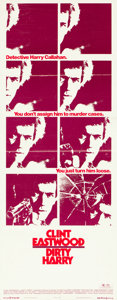 "Movie Posters:Crime, Dirty Harry (Warner Brothers, 1971). Insert (14"" X 36"").. ..."