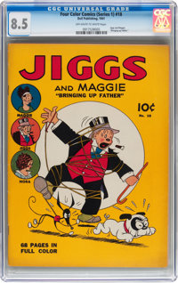 Four Color (Series One) Jiggs and Maggie #18 (Dell, 1941) CGC VF+ 8.5 Off-white to white pages
