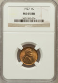 Lincoln Cents: , 1927 1C MS65 Red and Brown NGC. NGC Census: (43/5). PCGS Population(76/3). Mintage: 144,440,000. Numismedia Wsl. Price for...