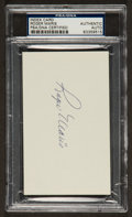 Baseball Collectibles:Others, Roger Maris Signed Index Card PSA/DNA Authentic. ...