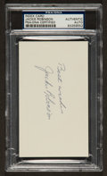Baseball Collectibles:Others, Jackie Robinson Signed Index Card PSA/DNA Authentic....