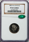 Proof Liberty Nickels: , 1883 5C No Cents PR65 Cameo NGC. CAC. NGC Census: (69/78). PCGSPopulation (92/76). ...