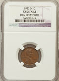 Lincoln Cents, 1922-D 1C -- Obv Scratched -- NGC Details. XF. NGC Census:(32/282). PCGS Population (73/473). Mintage: 15,274,000....