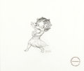 Animation Art:Production Drawing, Shamus Culhane Betty Boop Sketch Original Art (1989)....