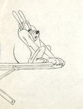 Animation Art:Production Drawing, Pluto Production Drawing (Walt Disney, 1940s)....