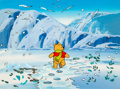 Animation Art:Production Cel, Winnie-the-Pooh Production Cel with Background (Walt Disney,1980s)....