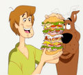 Animation Art:Production Cel, Scooby-Doo on Zombie Island Scooby and Shaggy Production Cel(Hanna-Barbera, 1998)....