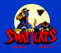 Animation Art:Production Cel, SWAT Kats: The Radical Squadron Title Cel (Hanna-Barbera,1993)....