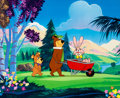 Animation Art:Production Cel, Yogi the Easter Bear Yogi, Boo-Boo, and Easter BunnyProduction Cel (Hanna-Barbera, 1994)....