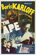 "Movie Posters:Horror, The Ape (Monogram, 1940). One Sheet (27"" X 41"").. ..."