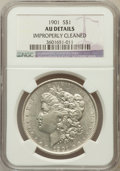 Morgan Dollars, 1901 $1 -- Improperly Cleaned -- NGC Details. AU. NGC Census:(332/3191). PCGS Population (504/2792). Mintage: 6,962,81...