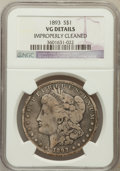 Morgan Dollars: , 1893 $1 -- Improperly Cleaned -- NGC Details. VG. NGC Census:(22/3753). PCGS Population (32/5640). Mintage: 389,792. N...