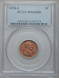 Lincoln Cents: , 1928-S 1C MS64 Red PCGS. PCGS Population (148/45). NGC Census:(33/7). Mintage: 17,266,000. Numismedia Wsl. Price for probl...