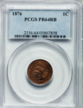 Proof Indian Cents: , 1876 1C PR64 Red and Brown PCGS. PCGS Population (93/57). NGCCensus: (55/62). Mintage: 1,150. Numismedia Wsl. Price for pr...