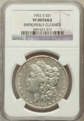 Morgan Dollars, 1902-S $1 -- Improperly Cleaned -- NGC Details. VF. NGC Census:(6/2759). PCGS Population (11/4575). Mintage: 1,530,000...