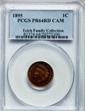 Proof Indian Cents: , 1895 1C PR64 Cameo PCGS. PCGS Population (2/5). NGC Census: (1/2). . From The Teich Family Collection....