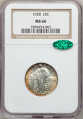 Standing Liberty Quarters: , 1928 25C MS66 NGC. CAC. NGC Census: (38/12). PCGS Population(20/2). Mintage: 6,336,000. Numismedia Wsl. Price for problem ...
