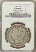 Morgan Dollars: , 1899 $1 -- Rim Damage -- NGC Details. VG. NGC Census: (10/8253).PCGS Population (10/11025). Mintage: 330,846. Numi...