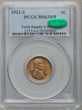 Lincoln Cents: , 1921-S 1C MS63 Red and Brown PCGS. CAC. PCGS Population (160/270).NGC Census: (61/140). Mintage: 15,274,000. Numismedia Ws...