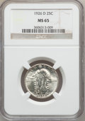 Standing Liberty Quarters: , 1926-D 25C MS65 NGC. NGC Census: (240/19). PCGS Population(198/10). Mintage: 1,716,000. Numismedia Wsl. Price for problem ...