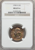 Washington Quarters, 1958-D 25C MS67+ ★ NGC. NGC Census: (249/1). PCGS Population(116/0). Mintage: 78,124,896. Num...