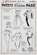 Original Comic Art:Splash Pages, Al Hartley Patsy Walker #115 Fashion Page Original Art(Marvel, 1964)....