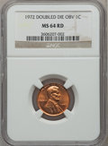 Lincoln Cents: , 1972 1C Doubled Die Obverse MS64 Red NGC. NGC Census: (499/736).PCGS Population (859/1742). Mintage: 75,000. Numismedia Ws...