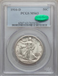 Walking Liberty Half Dollars: , 1916-D 50C MS63 PCGS. CAC. PCGS Population (366/721). NGC Census:(226/561). Mintage: 1,014,400. Numismedia Wsl. Price for ...