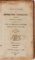 Books:Food & Wine, A Lady [Maria Eliza Rundell]. A New System of Domestic CookeryFormed Upon Principles of Economy. McDermut & Ard...