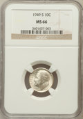 Roosevelt Dimes: , 1949-S 10C MS66 NGC. NGC Census: (813/1016). PCGS Population(1111/191). Mintage: 13,510,000. Numismedia Wsl. Price for pro...