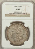 Morgan Dollars: , 1896-O $1 XF45 NGC. NGC Census: (339/4565). PCGS Population(454/4180). Mintage: 4,900,000. Numismedia Wsl. Price for probl...