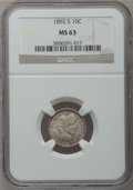Barber Dimes: , 1892-S 10C MS63 NGC. NGC Census: (12/57). PCGS Population (24/41).Mintage: 990,710. Numismedia Wsl. Price for problem free...