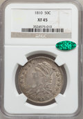 Bust Half Dollars: , 1810 50C XF45 NGC. CAC. NGC Census: (72/416). PCGS Population(80/303). Mintage: 1,276,276. Numismedia Wsl. Price for probl...