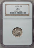 Barber Dimes: , 1899-S 10C MS63 NGC. NGC Census: (17/22). PCGS Population (18/55).Mintage: 1,867,493. Numismedia Wsl. Price for problem fr...