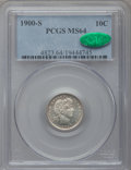 Barber Dimes: , 1900-S 10C MS64 PCGS. CAC. PCGS Population (28/29). NGC Census:(27/16). Mintage: 5,168,270. Numismedia Wsl. Price for prob...