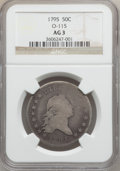 Early Half Dollars: , 1795 50C 2 Leaves AG3 NGC. O-115. NGC Census: (0/903). PCGSPopulation (18/1398). Mintage: 299,680. Numismedia Wsl. Price ...