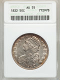 Bust Half Dollars: , 1832 50C Small Letters AU55 ANACS. NGC Census: (272/928). PCGSPopulation (326/635). Mintage: 4,797,000. Numismedia Wsl. Pr...