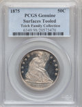 Seated Half Dollars, 1875 50C -- Surfaces Tooled -- PCGS Genuine. Mintage: 6,027,500..From The Teich Family Collection....