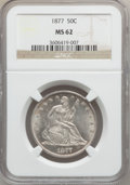 Seated Half Dollars: , 1877 50C MS62 NGC. NGC Census: (34/133). PCGS Population (33/118).Mintage: 8,304,510. Numismedia Wsl. Price for problem fr...