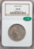 Seated Half Dollars: , 1844-O 50C AU58 NGC. CAC. NGC Census: (11/30). PCGS Population(7/21). Mintage: 2,005,000. Numismedia Wsl. Price for proble...