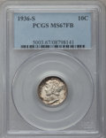 Mercury Dimes: , 1936-S 10C MS67 Full Bands PCGS. PCGS Population (165/2). NGCCensus: (49/1). Mintage: 9,210,000. Numismedia Wsl. Price for...