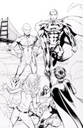 Original Comic Art:Splash Pages, Randy Green and Andy Lanning Teen Titans #50 Page 38Original Art (DC, 2007)....