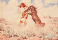 Works on Paper, LEONARD HOWARD REEDY (American, 1899-1956). The Rivals. Watercolor on paper. 8-1/4 x 12 inches (21.0 x 30.5 cm) (paper)...