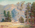 Paintings, ADA BELLE CHAMPLIN (American, 1875-1950). A Home Nestled in the California Foothills (thought to be Pasadena). Oil on ca...