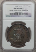 Trade Dollars: , 1878-S T$1 -- Environmental Damage -- NGC Details. Unc. NGC Census:(18/377). PCGS Population (20/412). Mintage: 4,162,000....
