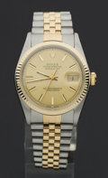Timepieces:Wristwatch, Rolex Ref. 1601 Gent's Two Tone Oyster Perpetual Datejust, circa 1977. ...