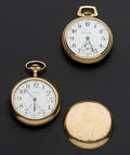 Timepieces:Pocket (post 1900), Waltham & Hamilton 17 Jewels 18 Size Pocket Watches Runners....