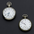 Timepieces:Pocket (post 1900), Waltham 17 Jewel & Omega 15 Jewel Pocket Watches Runners. ... (Total: 2 Items)